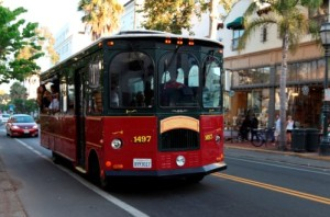 Earth-Day SB-trolley-company