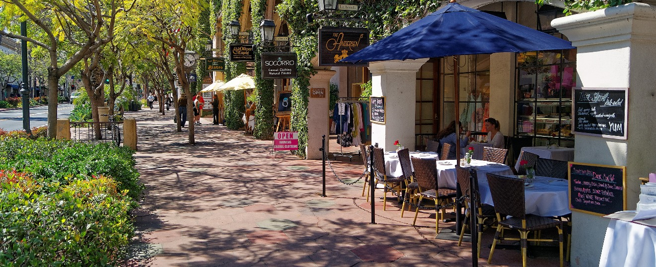 Santa Barbara Walking Wine Tour Map