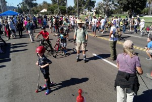 The streets were filled with scooters, bikes, roller blades, walkers, pets, and much more!